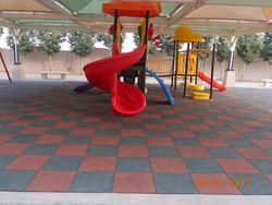rubber flooring tiles for children playgrounds