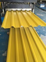 Galvanized Profile sheet yellow color dubai