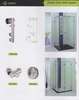 SHOWER DOOR SLIDE SYSTEM UAE