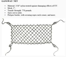 GANGWAY NET from Gulf Safety Equips Trading Llc Dubai, UNITED ARAB EMIRATES