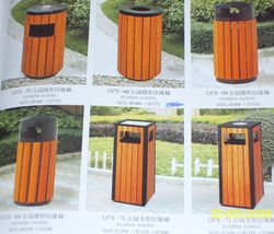 WOODEN OUTDOOR BINS  ...