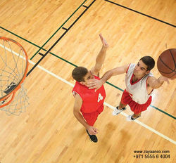 Indoor Basketball Court Flooring in Dubai, UAE from Zayaanco  Sharjah,