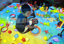fantasy beach- interactive projection sandpit game
