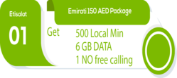 Marketplace for Etisalat emirati postpaid data plan UAE